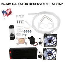DIY PC Liquid Water Cooling Kit 240mm Radiator Pump Reservoir CPU Block Tubes