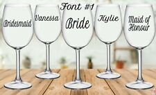 Personalised Wedding Sticker for Wine/Champagne Glass Decal Sticker (each)