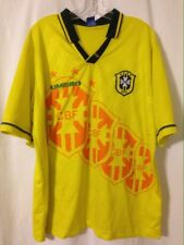 Rare Vintage 1994 Brazil Soccer World Cup 4-Star Jersey Pequeno Umbro Fits XL
