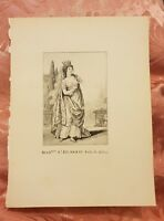 Antionette Saint-Huberti - French Soprano - Vintage Book Print