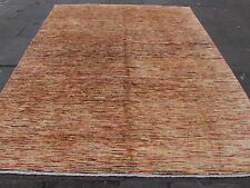 Traditional Hand Made Afghan Gabbeh Wool Gold Stripy Modern Carpet 288x245cm