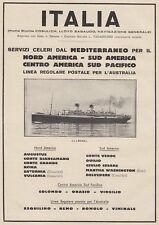 Z5354 Transatlantico Roma - Flotte Riunite Italia - Pubblicità d'epoca - 1932 ad