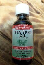 De La Cruz TEA TREE OIL 2oz Aceite de Arbol de Te 100%25 Pure Essential SEALED
