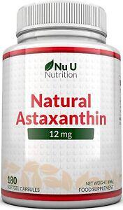 Astaxanthin 12 mg hochdosiert 6-Monats-Versorgung 180 Softgel-Kapseln