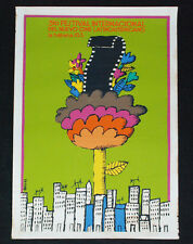 "1983 Original Cuban Movie Poster.Plakat.Colorful.Green""Cinema Festival""Habana"