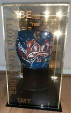 BOXING GLOVE IN DISPLAY CASE HAND SIGNED By FLOYD THE MONEY MAYWEATHER JNR