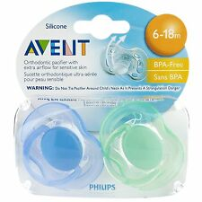 Philips Avent SCF178/24 2-Pack Free Flow Orthodontic Soother 6-18m - Boy Color