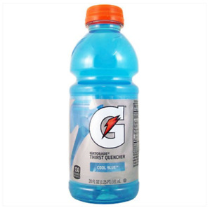 6 Bottles of Gatorade Blue Raspberry Flavour Energy Drink 20fl.oz (591ml)
