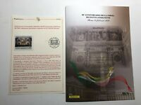 2019 Italia Vaticano Bollettino Illustrativo e Folder 90° Patti Lateranensi