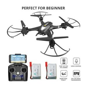 Holy Stone HS200 Black Drone with 720P HD FPV Camera RC Quadcopter Gift for kids