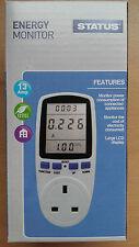 Lcd 13 Amp de energía Monitor Medidor De Potencia plug-in kWh vatios de electricidad Medidor Nuevo