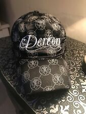 House Of Dereon Black Satin Baseball Cap