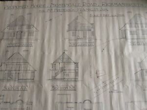 Architects orininal drawing for house in NIGHTINGALE ROAD RICKMANSWORTH  c 1924