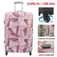XL Hartschalenkoffer Reisetrolley Reisekoffer 4 Rollen 108 Liter