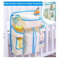 Baby Organizer Nursery Hanging Diaper Caddy Wipes Crib Nappy Storage Holder Bag
