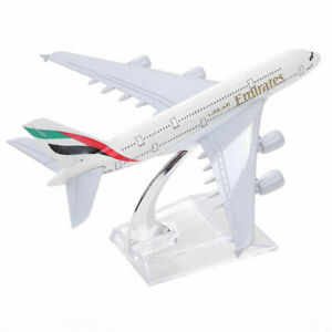 Emirates A380 Airbus 16CM Airlines Die Cast Metal Desk Aircraft Plane Model D-UK