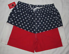 New Mens Southern Proper Old Glory Flag Lined Swim Trunks Shorts Size Medium 30