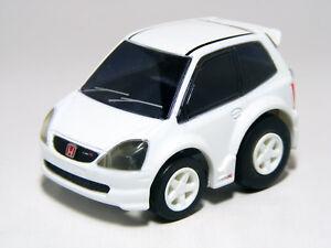 TAKARA TOMY Choro-Q Honda CIVIC TYPE R (EP3) 2001 White Pullback Miniature Car