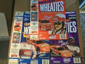 3 DALE EARNHARDT SR WHEATIES box, Crispy Regular & Honey Frosted NASCAR diecast