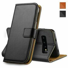 Magnetic Flip Wallet Case Leather Cover Glass Screen Protector For Samsung