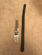 Alexander Logan Neckwear Men's Solid Black Skinny Necktie New
