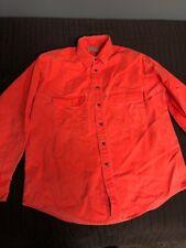 L.L. Bean N654 U.S.A. Long Sleeve Neon Hunter Casual Button Up Shirt Men's L