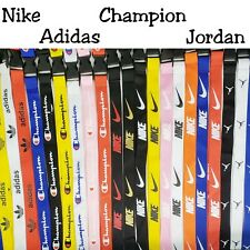 Lanyard Detachable Keychain Badge ID Holder Logo Nike Champion Adidas Jordon