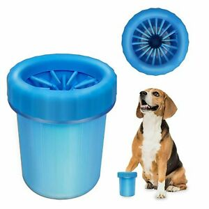 Portable Dog Paw Washer Paw Cleaner Blue Medium - Large Dogs Remove Mud
