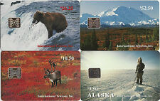 TK PHONECARD Alaska Eskimo Caribou Bear McKinley