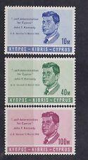 cyprus 1965 Sc 251/3,set MNH J.F.kennedy     c1740
