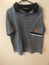 Taylor Made Size Large Gray/Black Polo Golf Shirt
