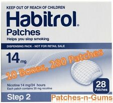 Habitrol Step 2 Nicotine Transdermal Patches 14mg . 10 Boxes of 28 Pieces each