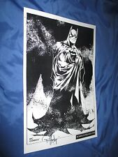BATMAN Signed Art Print by Inker Rob Hunter ~DC Comics 52/Ed Benes Art