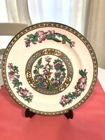 Vintage  Porcelain Dec flowers With Gold Gilded plate England Rare Excellent