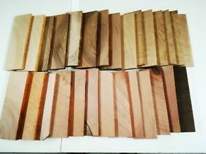 X-Cut Holz Reste Bastelholz Bunthölzer Schmuck Modellbau Inlays versch. Hölzer