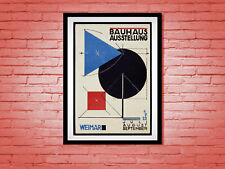 Vintage 1920s Poster Bauhaus Ausstellung Weimar 1923 Abstract Modernist Germany