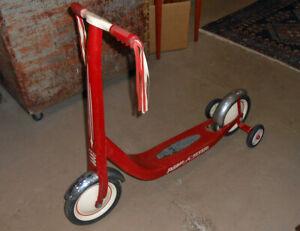 Vintage 1960's Radio Flyer Scooter Chrome & Training Wheels