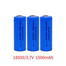 Li-ion ICR18500 1500mAh 3.7V 18500 Rechargeable Battery