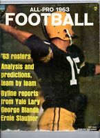 1963 All Pro Football magazine, Bart Starr, Green Bay Packers ~ Fair
