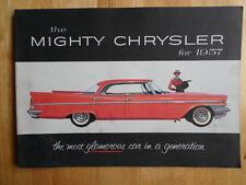 CHRYSLER 1957 range orig USA Mkt large format prestige sales brochure New Yorker