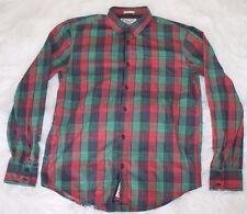 Munsingwear Original Penguin Mens Heritage Slim Fit Long Sleeve Red Green Shirt
