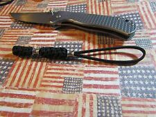550 paracord knife lanyard 2 stainless steel beads xm-18, medford,emerson,busse