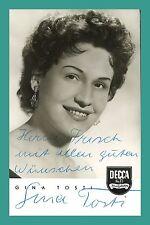 GINA TOSTI   Sängerin   Original-Autogramm auf DECCA-Starpostkarte