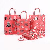 Christmas Santa Claus Snowman Pleuche Small Gift Candy Hand Bags