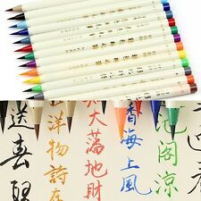 14pcs Color Painting Soft Brush Pen Watercolor Copic Markers Pen Set Comic