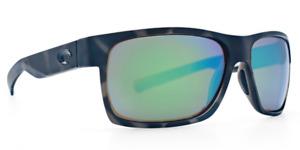 Costa Del Mar Sunglasses Half Moon Ocearch Tiger Shark Green Mirror 580G