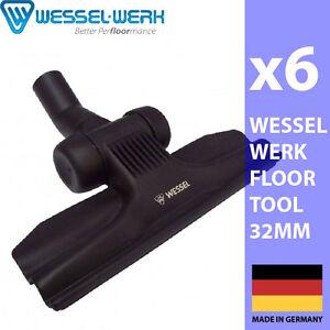 6 x WESSEL-WERK LOW PROFILE FLOOR TOOL 32MM PACKPACK PULLMAN HAKO PACVAC