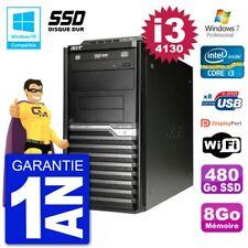 PC Acer Veriton M4630G MT i3-4130 RAM 8Go SSD 480Go Graveur DVD Wifi W7