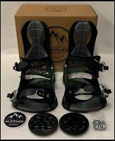 "MEN'S ALTITUDE ""RIDER"" 4X4 BURTON 3D EST SNOWBOARD BINDINGS (BLACK) L/XL 9-13"