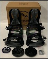 "MEN'S ALTITUDE ""RIDER"" 4X4 BURTON 3D EST SNOWBOARD BINDINGS (BLACK) L/XL 9-13"
